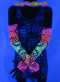 Arm Sleeve  : Fire Fractal - Arm Sleeves - Space Tribe
