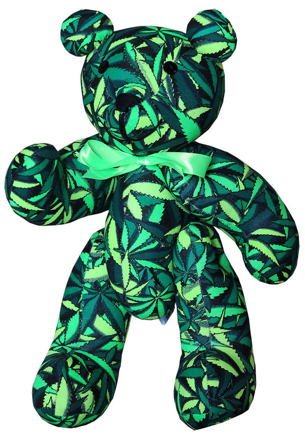 Teddy Bear : Sea of Green Weed - Party Animals (Soft toys) - Space Tribe