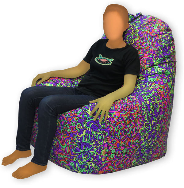 Giant Beanbag : Rainbow Mayan - Accessories - Beanbags & Cushions - Space Tribe