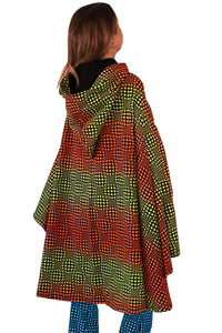 Hooded Cape : Fire Wobberelli - Women Capes - Space Tribe