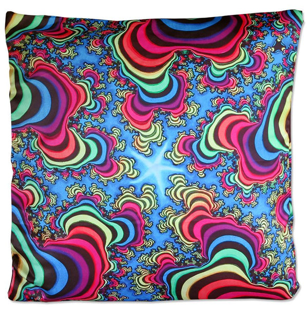 Cushion cover 50 cm : Rainbow Valley Fractal - Beanbags & Cushions - Space Tribe