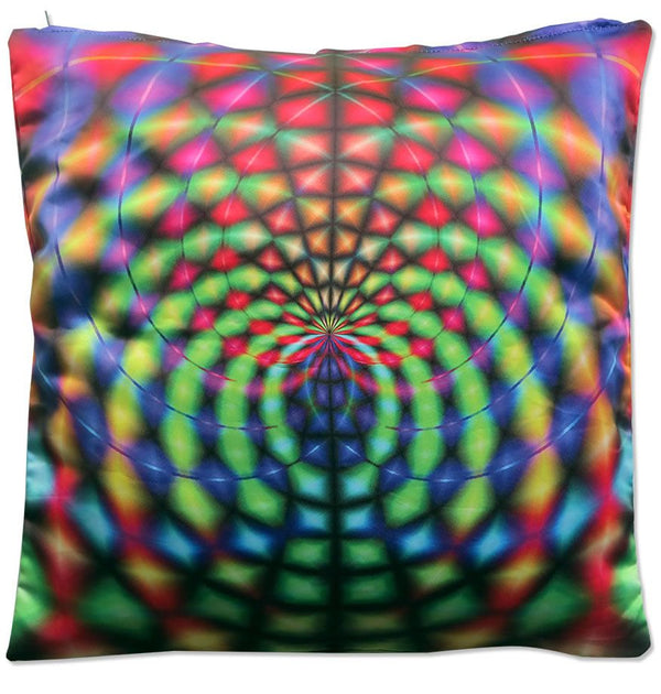 Cushion cover 40 cm : Rainbow Web - Accessories - Beanbags & Cushions - Space Tribe
