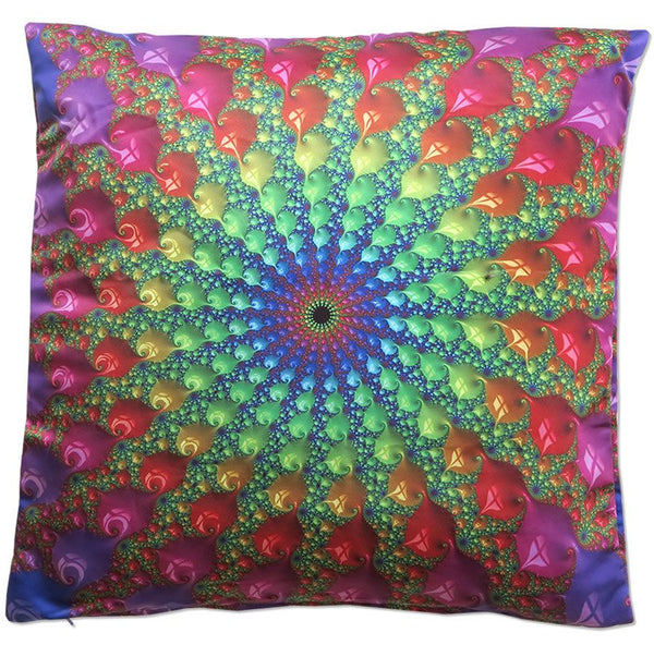Cushion cover 50 cm : Spectral  Fractal - Accessories - Beanbags & Cushions - Space Tribe