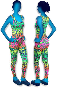 Catsuit : Atomic Rainbow - Women Catsuits - Space Tribe