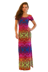 Slinky Dress  : Rainbow Fractal - Women Dresses - Space Tribe