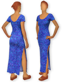 Slinky Dress  : Blue Splash - Women Dresses - Space Tribe
