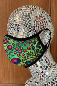 Face mask : Atomic Rainbow