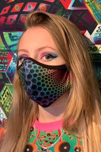 Face mask : Rainbow Vortex