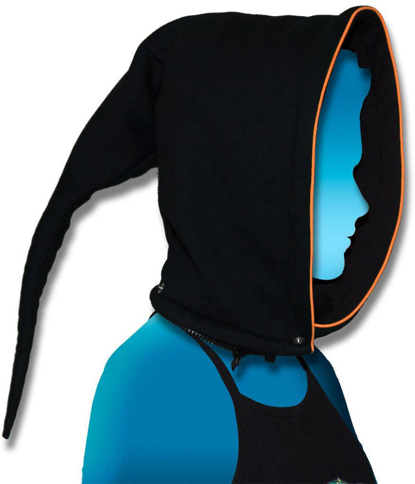 Hood-Pixie : UV Orange - Men Jackets - Space Tribe