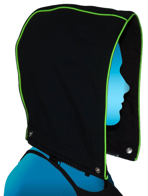 Hood-Round : UV Lime - Men Jackets - Space Tribe