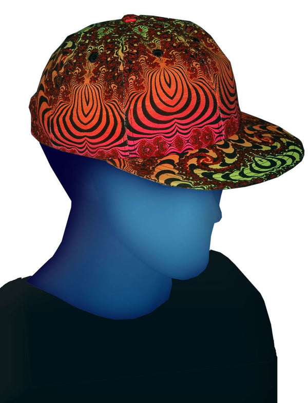 Spaceball Cap : Fire Fractal - Accessories - Hats - Space Tribe