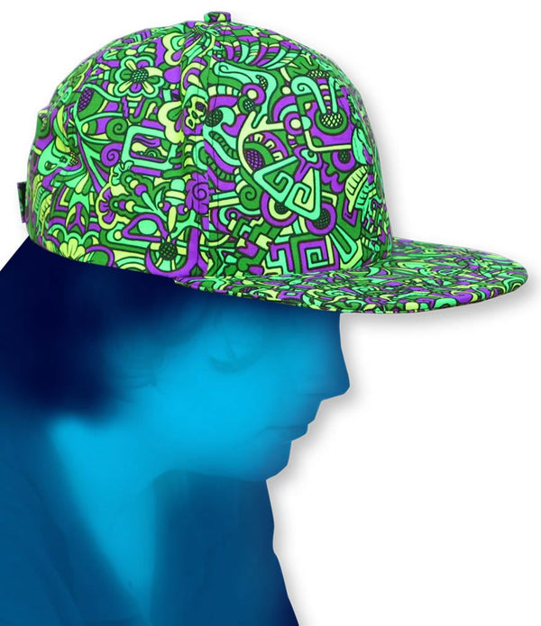 Spaceball Cap : Lime MiniMayan - Hats - Space Tribe