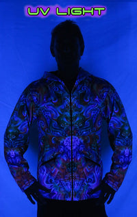 Sublime Hooded  Jacket : Holographic Altar - Men Jackets - Space Tribe