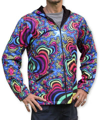 Sublime Hooded  Jacket : Rainbow Valley Fractal - Men Jackets - Space Tribe