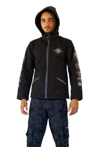Morph Jacket Pixie Hood : Glo Chakra - Men Jackets - Space Tribe