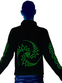 Morph Jacket (No Hood) : Lime Triskelion - Men Jackets - Space Tribe