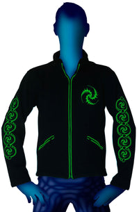 Morph Jacket Round Hood : Lime Triskelion - Men Jackets - Space Tribe