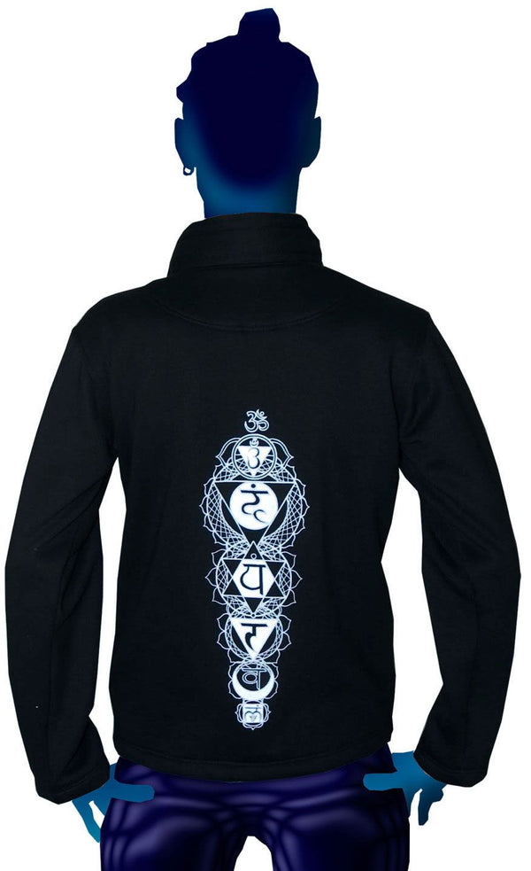 Morph Jacket (No Hood) : Glo Chakra - Men Jackets - Space Tribe