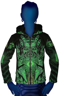 Morph Jacket Pixie Hood : Lime Mahakala - Men Jackets - Space Tribe