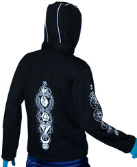 Morph Jacket Round Hood: Glo Chakra - Men Jackets - Space Tribe