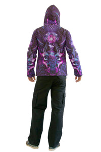 Hooded Zip Jacket : Violet Foxy Lady - Men Jackets - Space Tribe