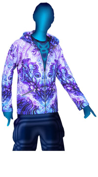 Hooded Zip Jacket : Purple Plasm - Men Jackets - Space Tribe