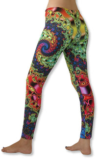 Sublime Leggings : Whirlpool Fractal - Women Leggings - Space Tribe