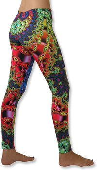 Sublime Leggings : Chromatic Fractal - Women Leggings - Space Tribe