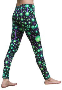 Wide waistband Leggings : Atomic Alien - Women Leggings - Space Tribe