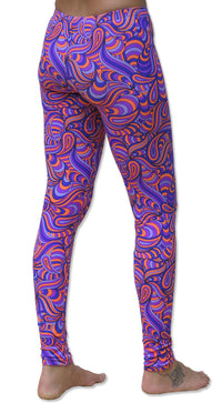 Full print Leggings : Purple Splash - Women Leggings - Space Tribe