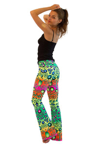Lycra Flares : Atomic Rainbow - Women Flares - Space Tribe