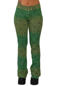 Lycra Flares : Lime Wobberelli - Women Flares - Space Tribe