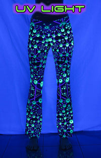 Lycra Flares : Atomic Alien - Women Flares - Space Tribe