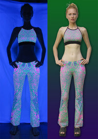 Lycra Flares : Acid Dragonfly - Women Flares - Space Tribe