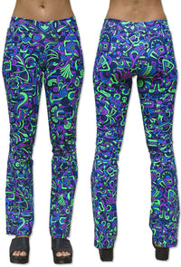 Lycra Flares : Alien Mayan - Women Flares - Space Tribe