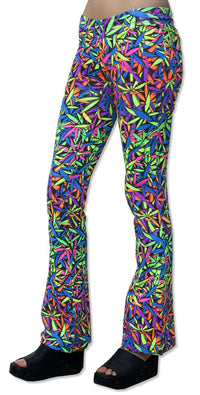 Lycra Flares : Juicy Fruit Weed - Women Flares - Space Tribe
