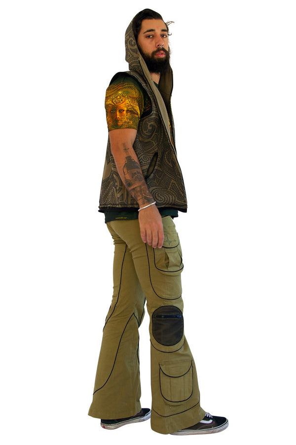 Tsunami Pants  : Olive Pulse - Men Pants - Space Tribe