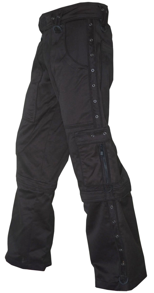 Rip Zips : Black - Men Pants - Space Tribe