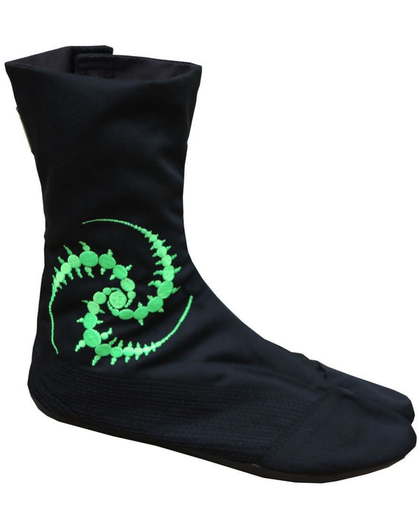 Ninja Boot  : UV Lime Tri-skelion - Accessories - Footwear - Space Tribe
