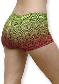 Sublime Hot Pants : Op art Wobbly Fire - Women Hot Pants - Space Tribe