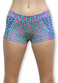 Hot Pants : Acid Dragonfly - Women Hot Pants - Space Tribe
