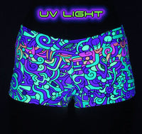 Hot Pants : Rainbow Mayan - Women Hot Pants - Space Tribe