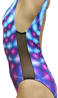 Mesh Swimsuit : Violet Web - Women Swimwear - Space Tribe