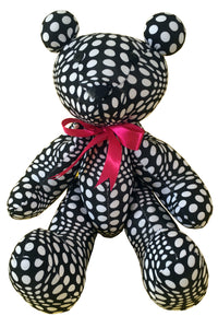 Teddy Bear : Black & White Wobberelli - Accessories - Party Animals (Soft toys) - Space Tribe