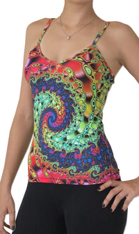 Sublime Strap Top : Whirlpool Fractal - Women Tops - Space Tribe