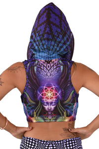 Hooded Crop Top : Foxy Lady - Women Tops - Space Tribe
