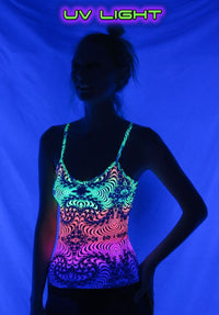 Strap Top : Rainbow Fractal - Women Tops - Space Tribe
