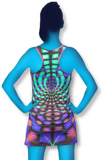 Tank Gurl : Rainbow Web - Women Tops - Space Tribe