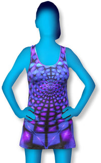 Tank Gurl : Purple Web - Women Tops - Space Tribe