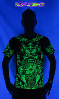 S/S Symbol Print T : Lime Mahakala - Men T-Shirts - Space Tribe